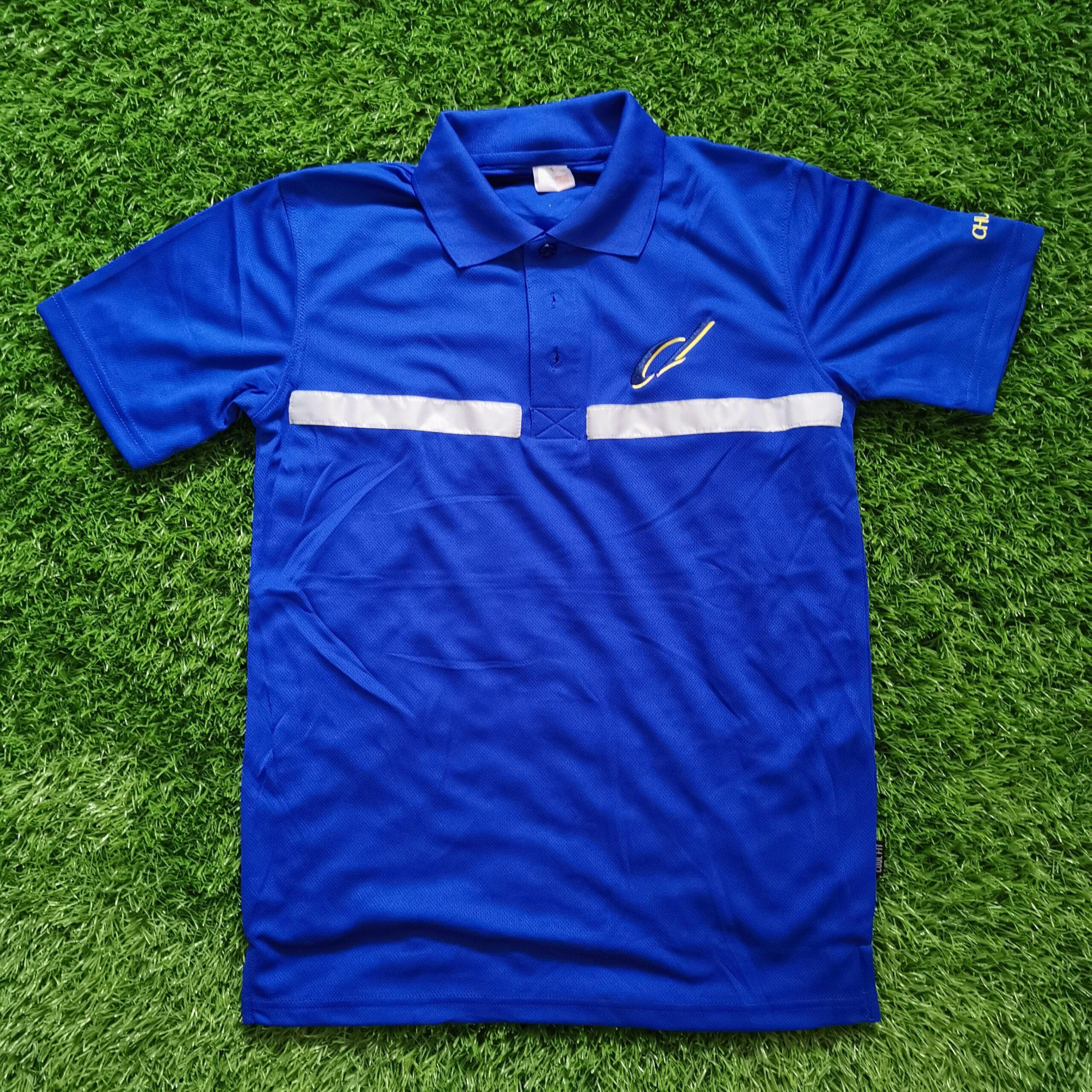 Custom Reflective Strips On Polo T-Shirt