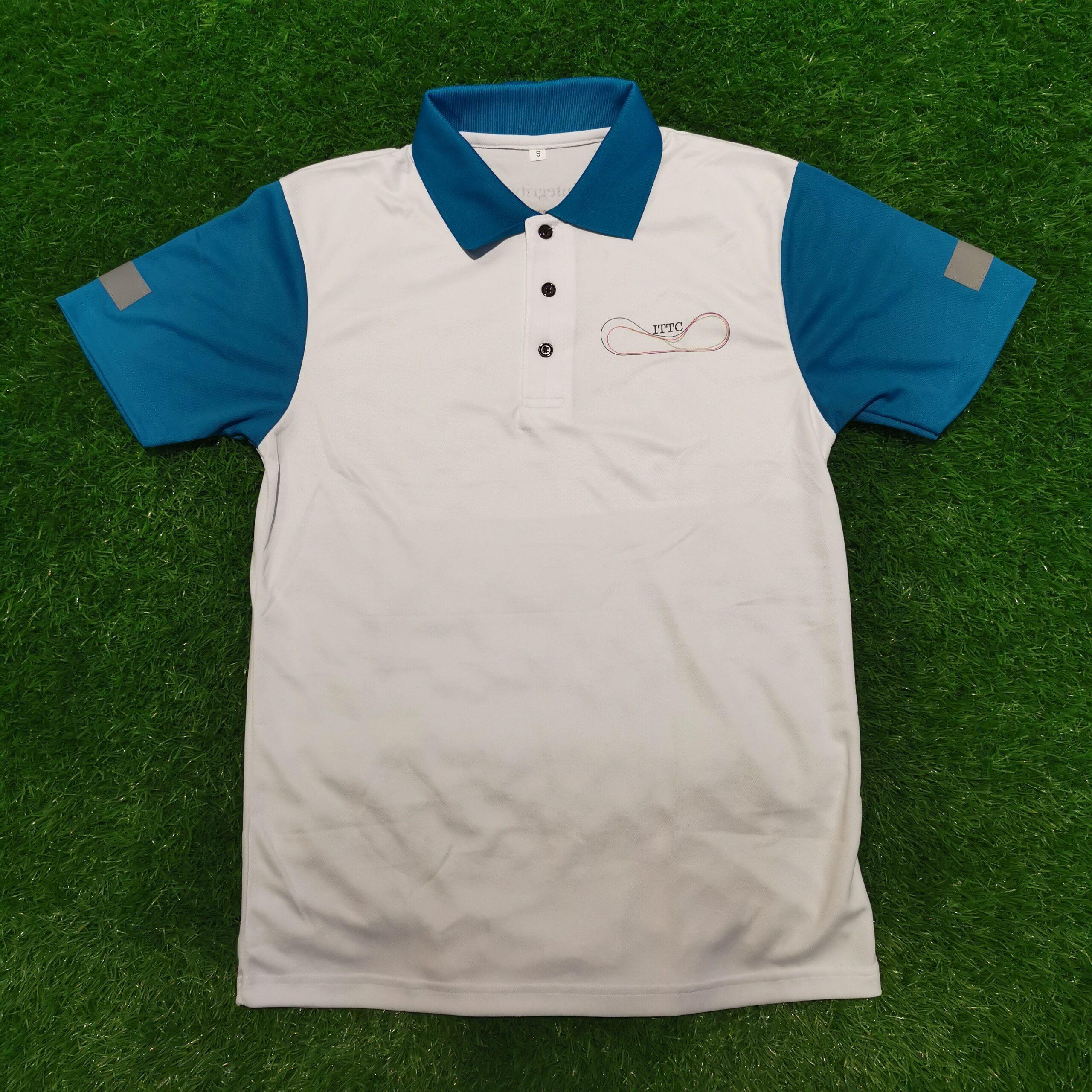 Custom Made Polo Shirt with Reflective Strips
